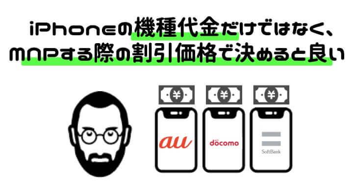 iPhone キャリア変更 割引