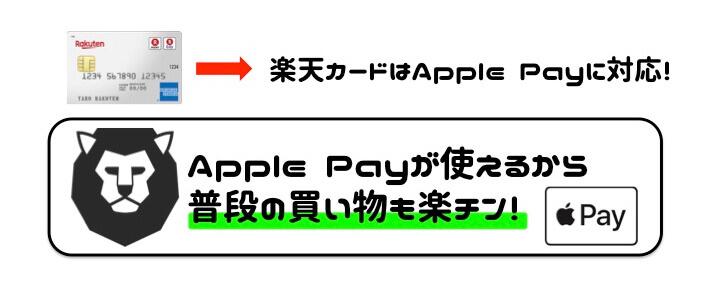 楽天カード 評判 Apple Pay対応