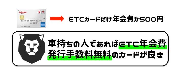 楽天カード 評判 ETC