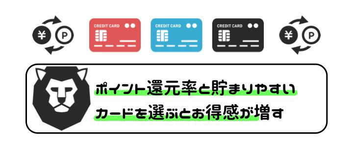 家族カード 選び方 ポイント還元率