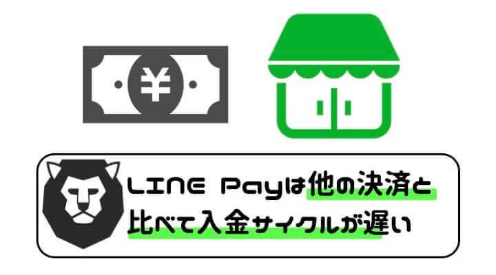 LINE Pay 導入 入金サイクル