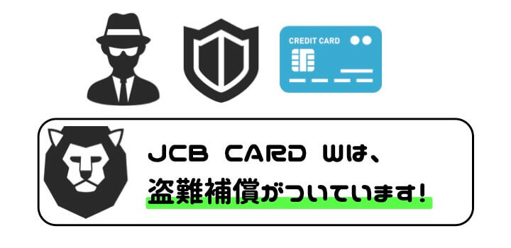 J CARD W 盗難補償