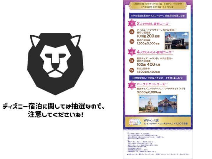 JCB CARD W MyJCBキャンペーン ディズニー宿泊チケット