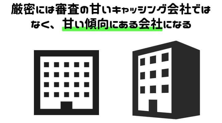 審査 甘い キャッシング会社