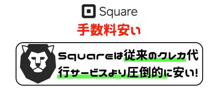 Square 導入 加盟店手数料