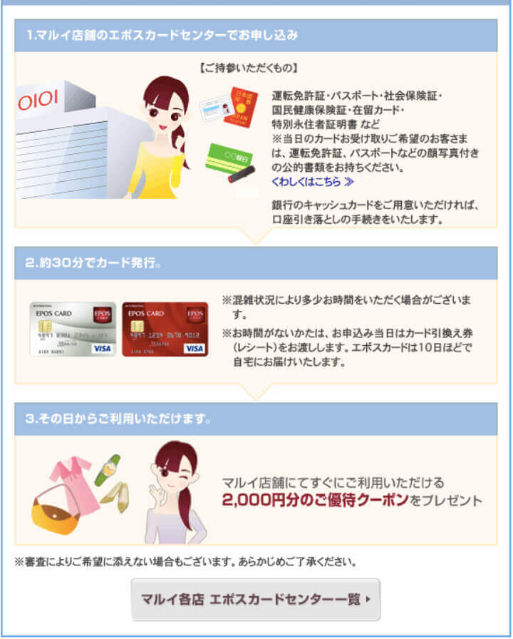 エポスカード 申し込み方法 作り方 店頭申し込み方法