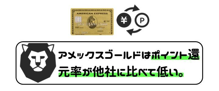 アメックスゴールド 口コミ・評判 ポイント還元率