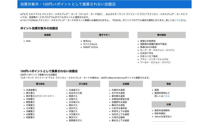 ANAアメックス 評判 口コミ ポイントアップ対象外