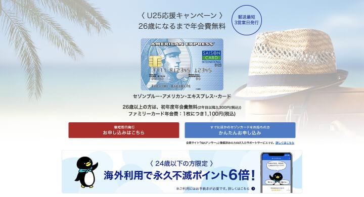 審査 甘い セゾンブルーアメックス公式サイト